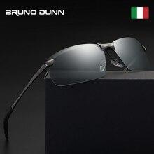 4b21bb0570 Bruno Dunn hombres fotocromáticos gafas de sol polarizadas 2019 cristales  de día y noche de conducción Anti deslumbramiento gafa.