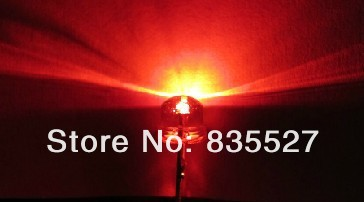 100PCS/LOT 5mm Straw Hat Red Line Short Legs Bright Red LED Light-emitting Diode