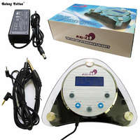 Solong Tattoo Double Output Digital Tattoo Power Supply Foot Pedal Clip Cord Kit P135