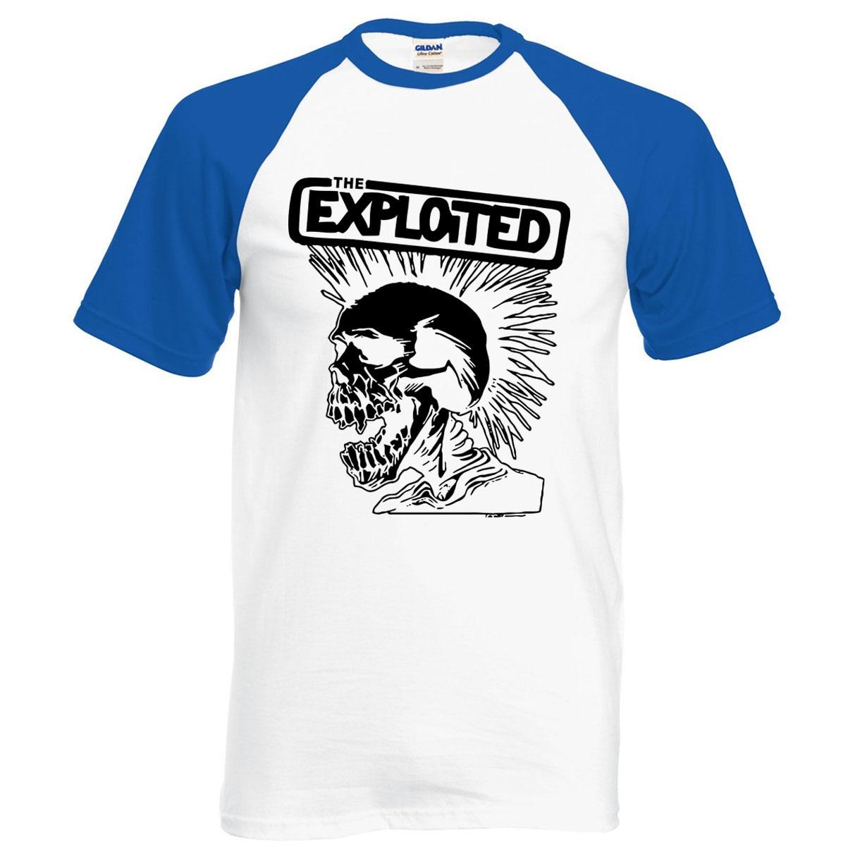 Hot Sale Punk Rock The Exploited Print 2020 New Summer 100% Cotton Skull T Shirt Fashion Raglan Men T-shirt Hipster Men S-2XL
