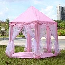 3 цвета Портативный играть Палатки Принцесса замок палатка дети театр детская палатка смешно, Крытый палатки открытый пляж ребенок играет Игрушечные лошадки