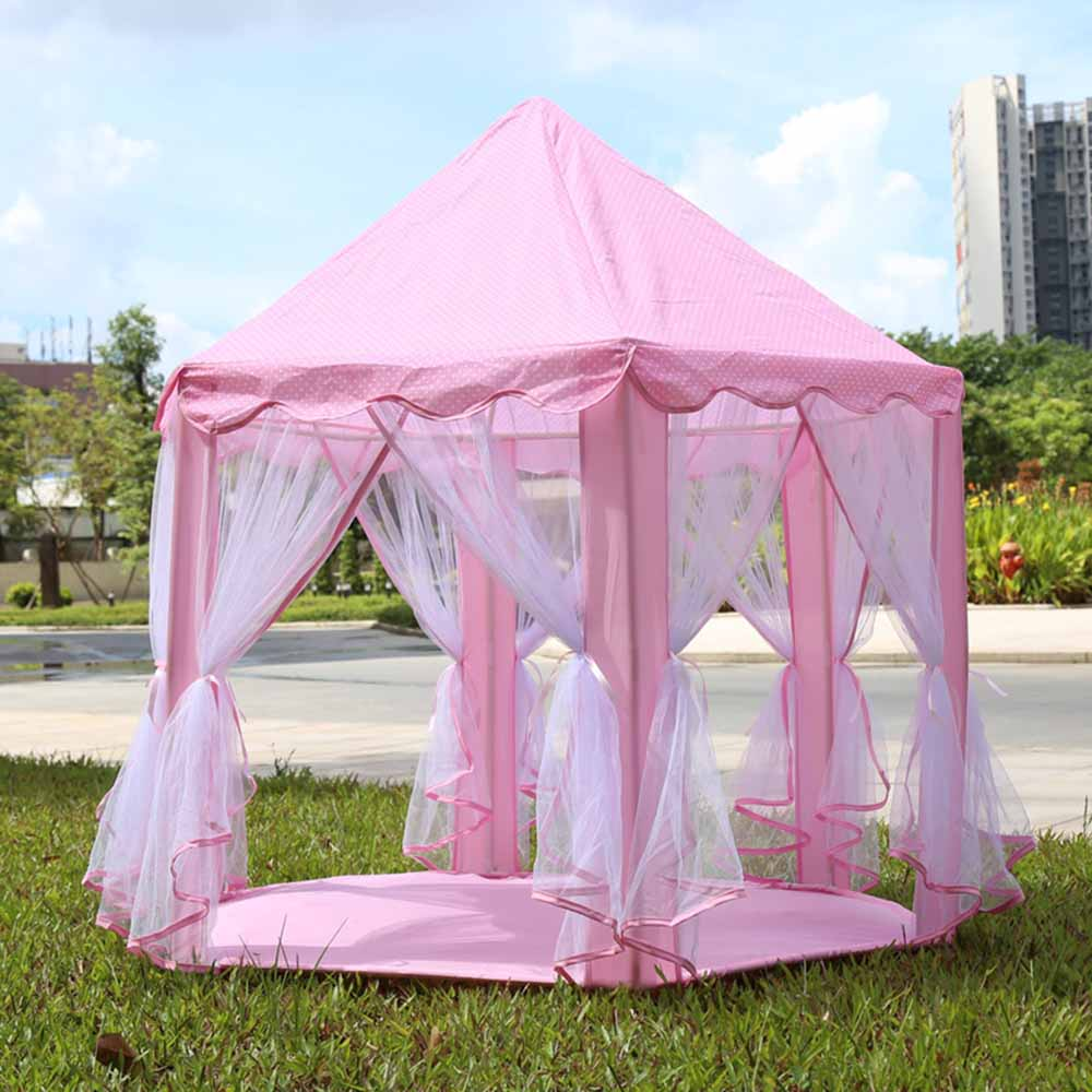3 Colors Portable Play Tents Princess Castle Tent Children