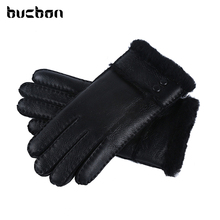 Hot Sale Winter Women Gloves Wool Genuine Leather Sheepskin Gloves Solid Sheep Fur Mittens Elegant Warm Female Gloves AGB483