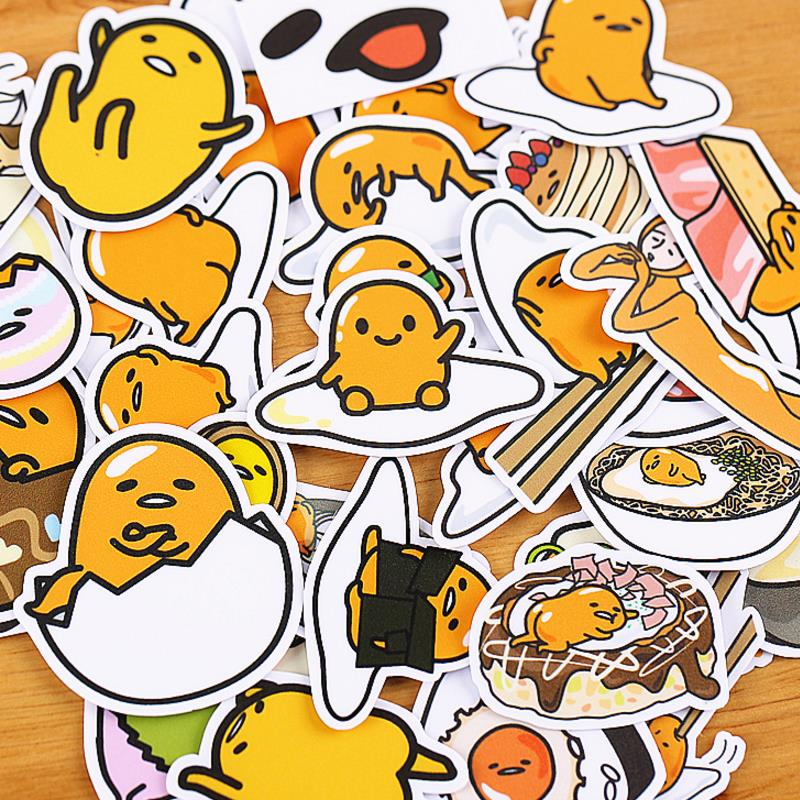 30pcs/pack New Cartoon Lazy Egg Gudetama Stickers Scrapbooking Stick Label Diary Album Stickers Classic Toy For Kids Gift
