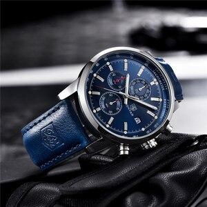 Image 4 - BENYAR relojes de marca de lujo para hombre, cronógrafo de cuarzo, deportivo, automático, con fecha, de cuero, Masculino, 2020