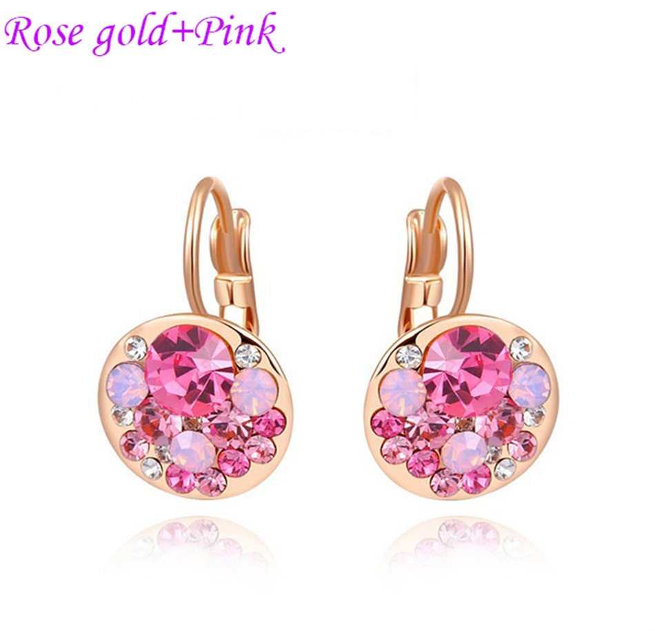 HTB1n7mEao rK1Rjy0Fcq6zEvVXa3 - Luxury Ear Stud Earrings For Women Fashion Round Charm Jewelry Romantic Lovely Accessories Gift Wholesale