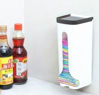 1PC Kitchen Wall mounted Bathroom Garbage Bag Plastic Storage Organiser Reusable Sundries Storage Box eOK 0601|garbage bags|bag garbage|plastic bag garbage -