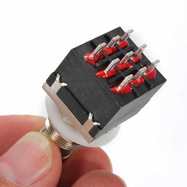 جديد دائم أسود السيارات 3PDT 9Pin Stompbox تأثيرات الغيتار الكهربائي دواسة القدم مفاتيح صحيح تجاوز مواتية السعر