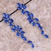 Fascinating Blue Sapphire 925 Sterling Silver Overlay Drop Dangle Earrings For Women Free Shipping Jewelry Bag
