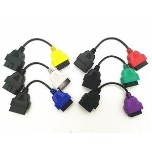 Image 2 - Neueste 6 Farbe Auto OBD2 Anschluss Diagnose Adapter Kabel für FiatECUScan und Multiecuscan für Fiat Alfa Romeo und für Lancia