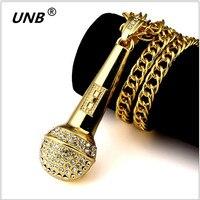 Fashion Hip Hop Jewelry Engraved Microphone Necklace Long Chain Supreme Punk Pendant Necklaces HipHop For Men