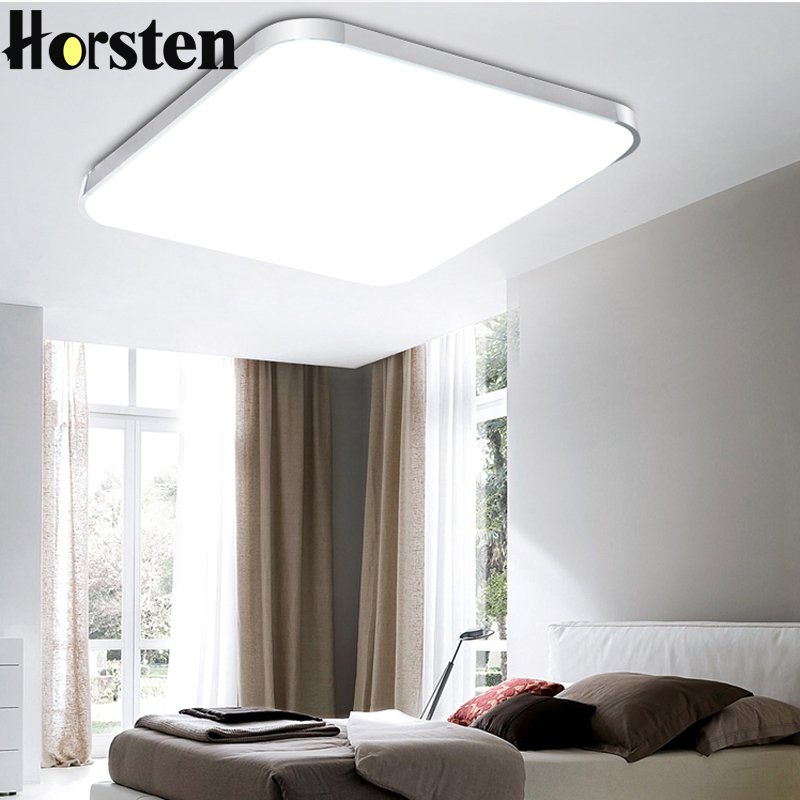 Horsten 24W Silver/ Gold Frame Super Thin Acrylic LED Ceiling Light Indoor Lighting Lamps Factory Wholesale Bedroom Ceiling Lamp