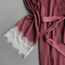 Long Sleeves Sexy Pajamas for Women 2 pcs Set