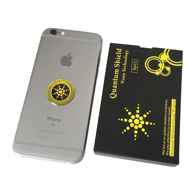 Autocollant de téléphone portable autocollant de bouclier quantique 100 pièces pour la Protection Anti-Radiation de téléphone portable d'emf Fusion Excel Anti-rayonnement - 5