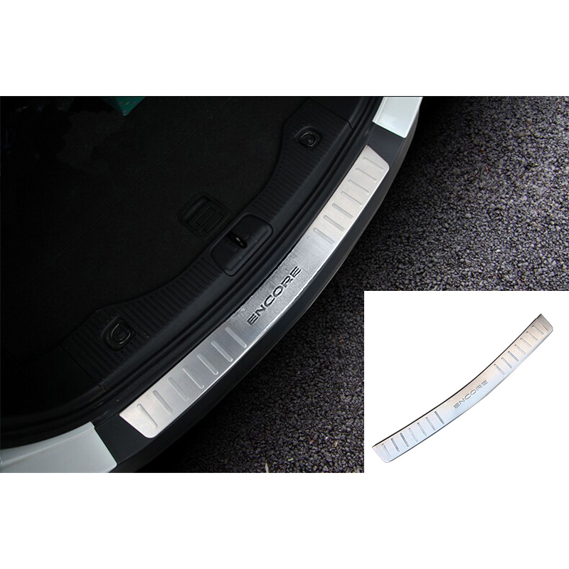 Car outside rear bumper plate bumper sill for buick encore vauxhall mokka opel 2013-2015 accessories stainless steel car-styling for buick encore opel mokka 2012 2014 car rain lamp super bright special laser beam rear end collision warning light page href