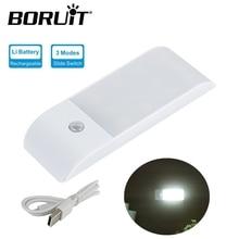 BORUiT 12 LED Rechargeable Motion Sensor Night Light USB Charge Closet Light