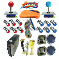 Arcade cabinet 960 in 1 game machine parts With Pandora box 5 Joystick Silver LED button Power supply Jamma Harness, Bundles kit