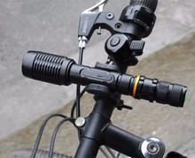 Zoomable Torches 5800lm xml-T6 led flashlight  | 2x 18650 Battery +Charger+ Bike clip+Bag