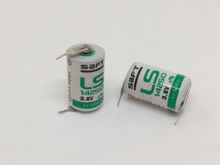 2PCS/LOT Original SAFT LS14250 14250 3.6V 1250mAh LiSOCL2 PLC battery with two pin Free Shipping