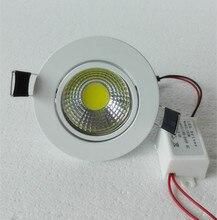 50PCS/Lot Dimmable 3W 6W 9W COB LED Spot light led ceiling lamp Recessed led downlight cob 110V 220V home luminaire