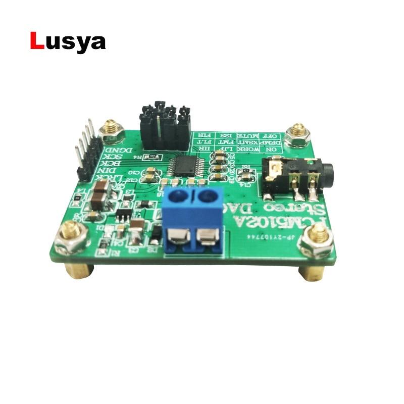 Unterhaltungselektronik Digital-analog-wandler Pcm5102a Digitale Audio I2s Iis Stereo Dca Decoder Board Modul Usb Zu I2s Ausgang 32bit 384 Khz T0574 Ein GefüHl Der Leichtigkeit Und Energie Erzeugen