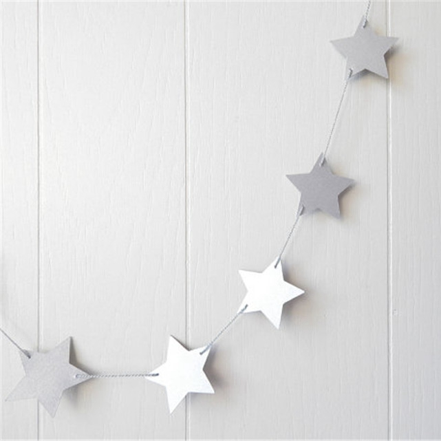 4m Gold Star Guirnaldas para Windows Puerta Decoraciones de techo - Para fiestas y celebraciones - foto 5