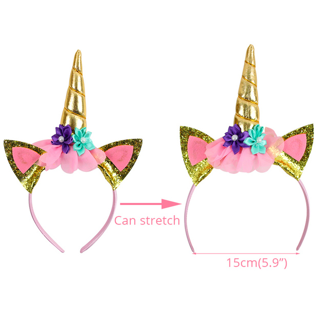 Birthday Girl Unicorn Sash & Headband Set