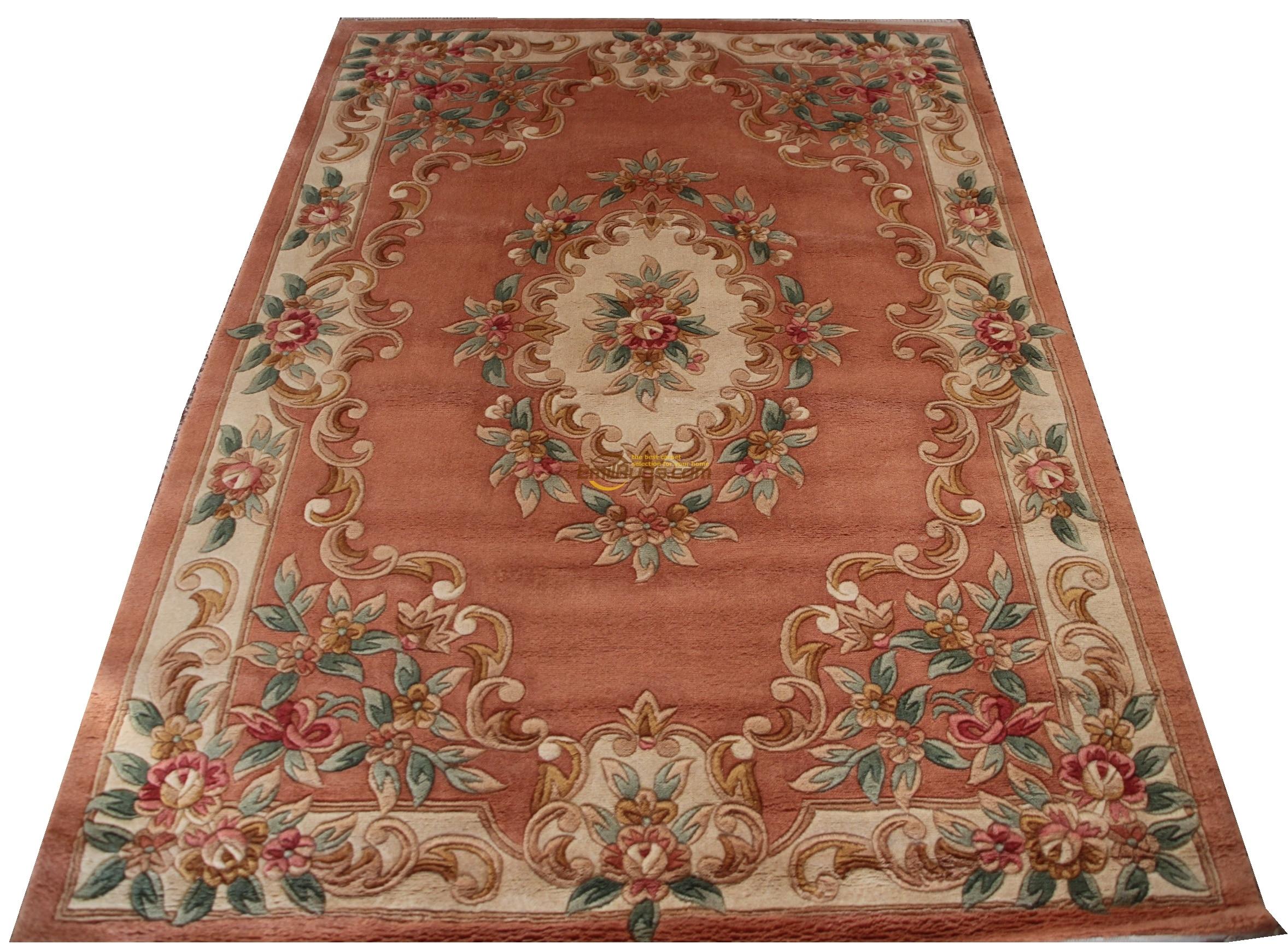 French Savonnerie Hand Knotted Wool Rug Carpet Folk Art Handmade Geometric Wall Decor|french carpet|rug carpet|savonnerie rug - title=