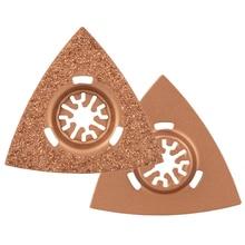 80 мм Универсальный Осциллирующий Мультитул лезвия треугольник Карбид Рашпиль для шлифовки камня