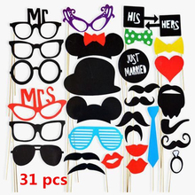 31Pcs font b Photo b font font b Booth b font Colorful Fun Lip font b