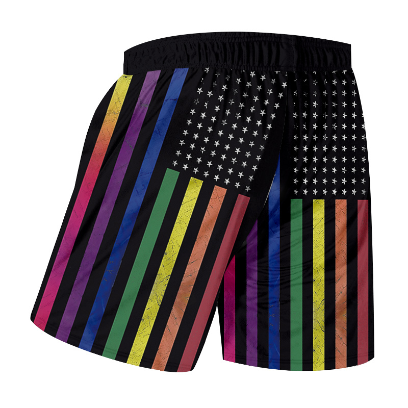 1ca7020e0ca1c OGK Stripe Beach Shorts Men Cool Print American Flag 3d Sweat Trunks Man  Bathing Suits Quick Dry Bermuda Shorts Summer-in Casual Shorts from Men's  Clothing ...