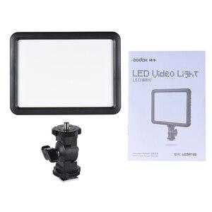 Image 5 - Godox Ultra Slim LEDP120C 3300K ~ 5600K Helderheid Verstelbare Studio Video Continu Licht Lamp Voor Camera Dv Camcorder + Batterij