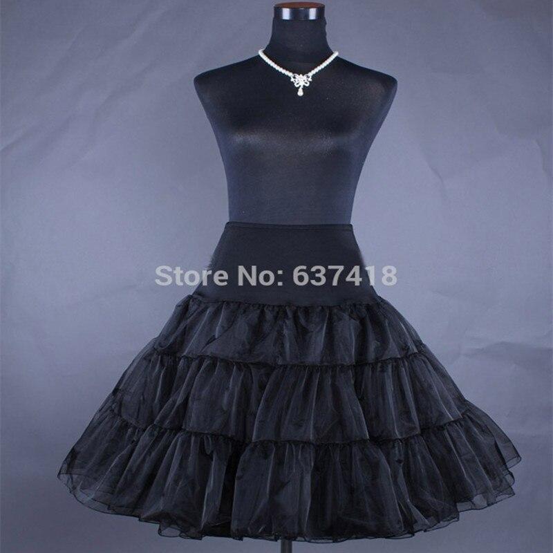 ef75e0ed39 US $11.0 |Free Shipping Short Organza Petticoat Crinoline Vintage Wedding  Bridal Petticoat for Wedding Dresses Underskirt Rockabilly Tutu-in ...