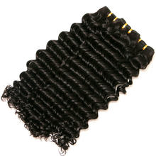 Yavida Indian Deep Wave Hair Extensions 100% Unprocessed Deep Curly Bundles Non-Remy Virgin Human Hair Weaving 1/3/4 Pieces(China)