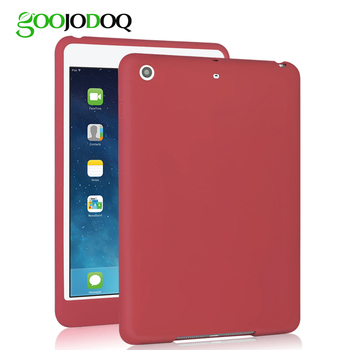 For iPad 2018 Case 9.7, GOOJODOQ Shockproof Silicone Soft Case Back Cover for new iPad 9.7 2017 Case for Kids Baby Safe A1893