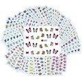 50 hojas Diseños Mezclados Nail Art Sticker Transferencia de Agua Marca de Agua Calcomanías DIY Decoración Para la Belleza Del Clavo Herramientas Patrones Al Azar