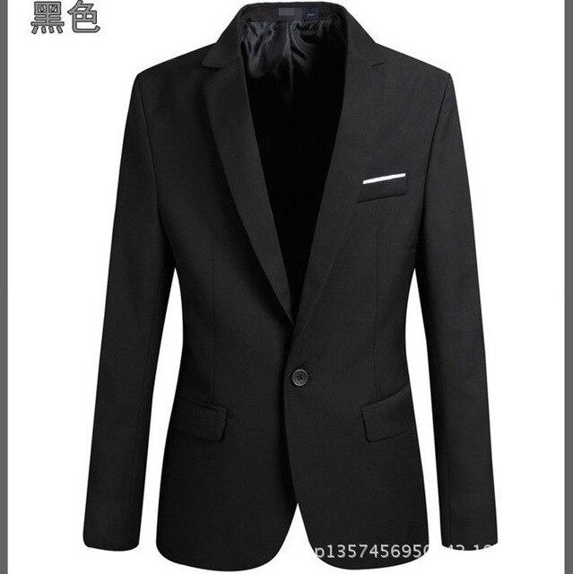 Новых Людей прибытия Костюм Пиджак Мужчины Сплошной Цвет Модный Случайный Пиджак Мужской One Button Blazer Костюмы куртки