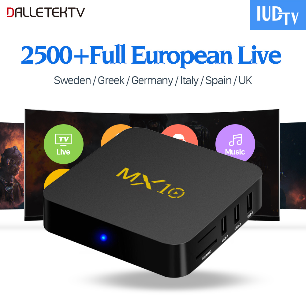 MX10 IPTV Box Android 7.1 4G+32G RK3328 Quad Core with IUDTV IPTV Subscription Italy Sweden USA Germany UK Portugal Turkey IP TV laptop keyboard for clevo p640hj p640hk1 p640re p640rf p641hj p641hk1 sweden sd portugal po nordic ne korea kr italy it germany