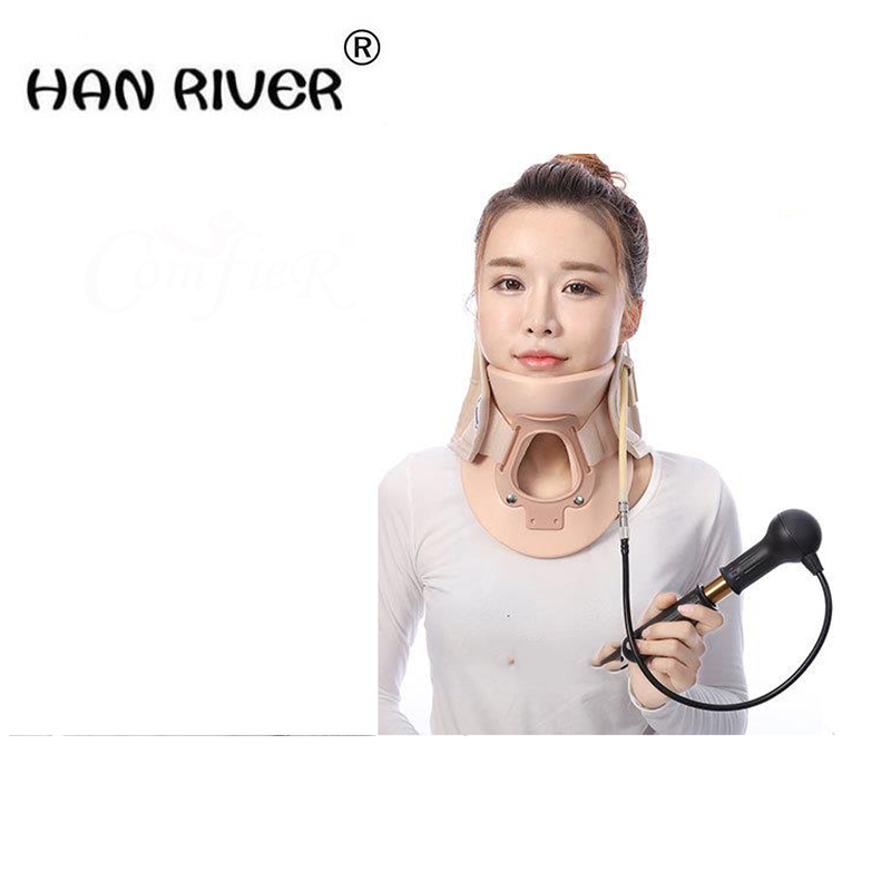 Neck Support Braces Household Cervical Collar Air Traction Therapy Device Relax Pain Relief Tool Universal Size Health Care medical neck support orthosis adjustable cervical collar device fixed traction braces vertebra rehabilitation head protection