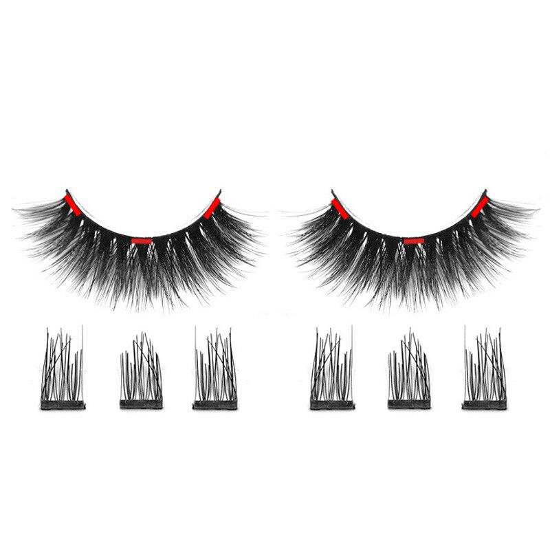d22080fbc35 iflovedekd 3D Magnetic Eyelashes Natural False Eyelashes On Magnets Reusable  3 Magnetic lashes image