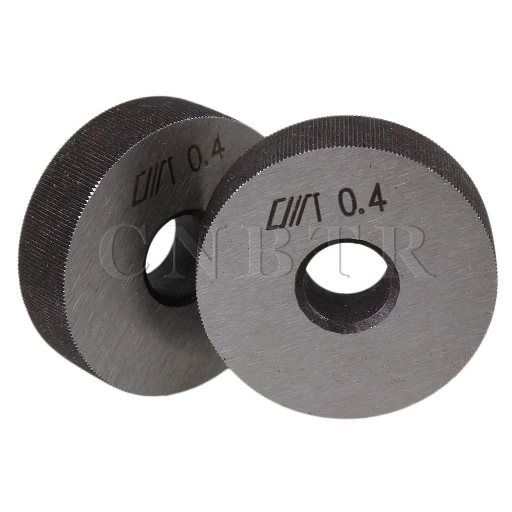 CNBTR Steel Linear Knurl Wheel 0.4 mm Pitch 28 x 8mm Single Straight Coarse Pattern Knurling Tool Pack of 2