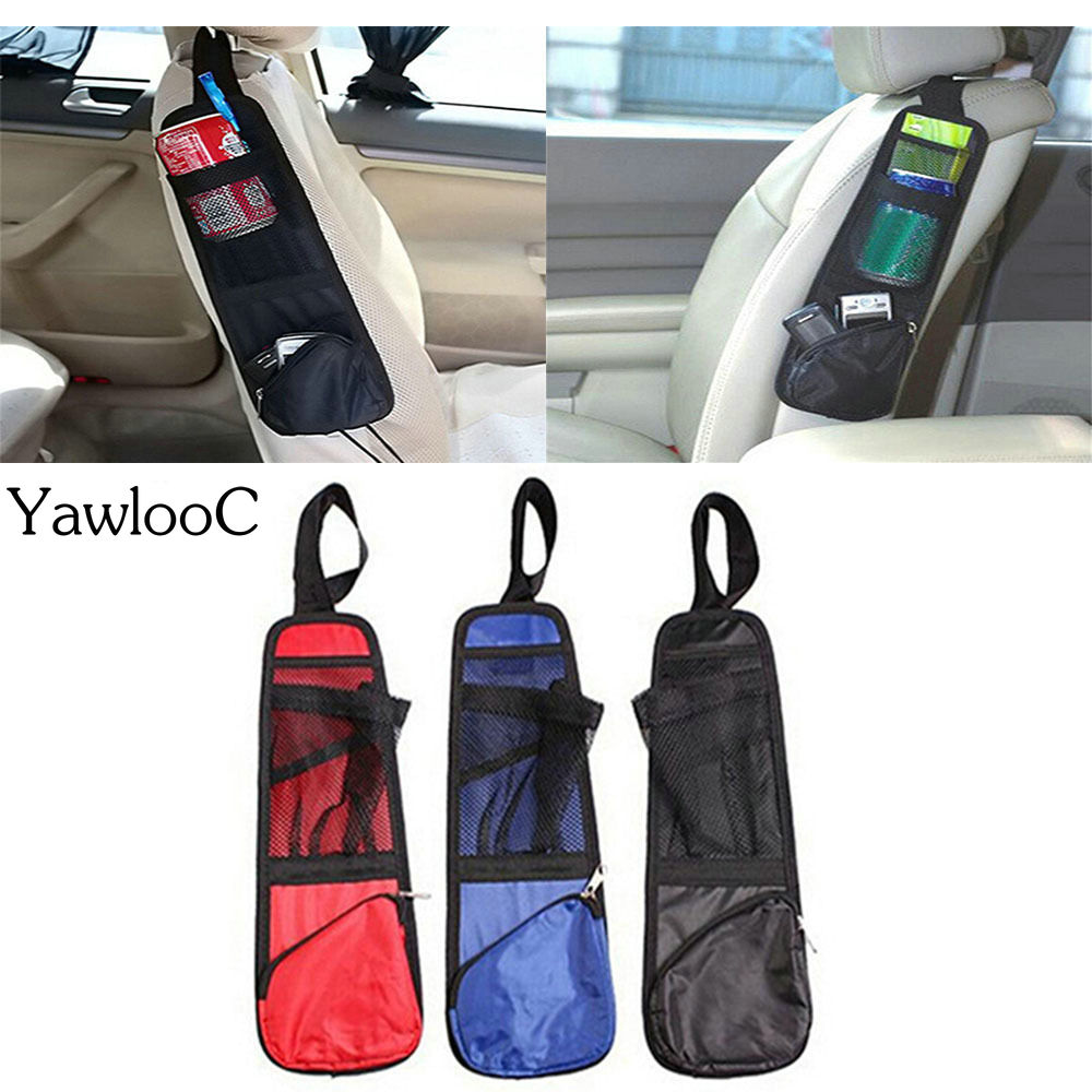 Car Auto Seat Side Multi Pocket Organizer Holder Travel Storage Hanging Bag Phone Drink Container Car Seat Pocket