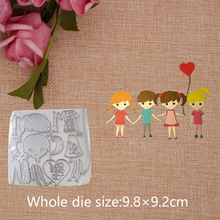 Cute Boy and Girl 2019 New Metal Cutting Dies for Craft Scrapbooking Stamps DIY  Card 9.8*9.2cm