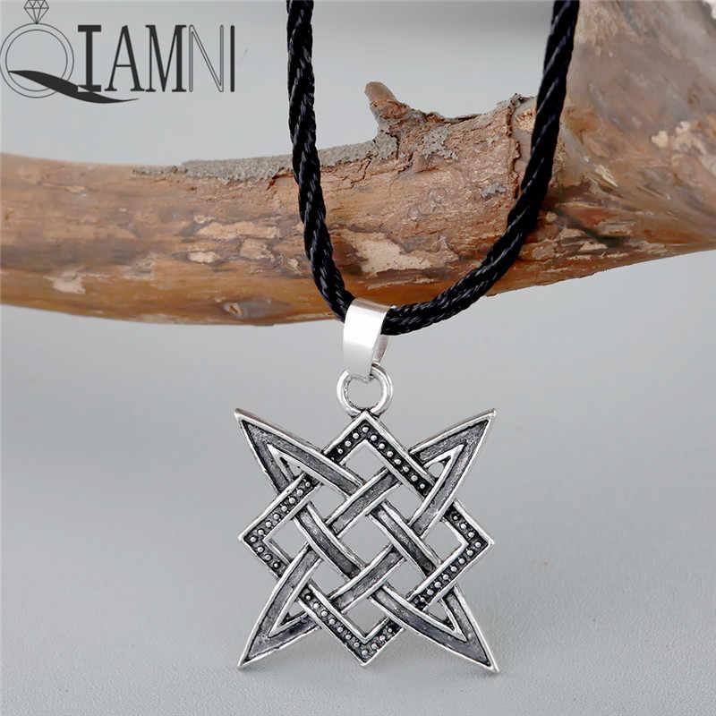 QIAMNI Kolovrat Talisman สร้อยคอจี้ Runes Pagan Amulet Bijouterie ชาติพันธุ์ Slavic สร้อยคอผู้ชายเครื่องประดับ Charm Dropshipping