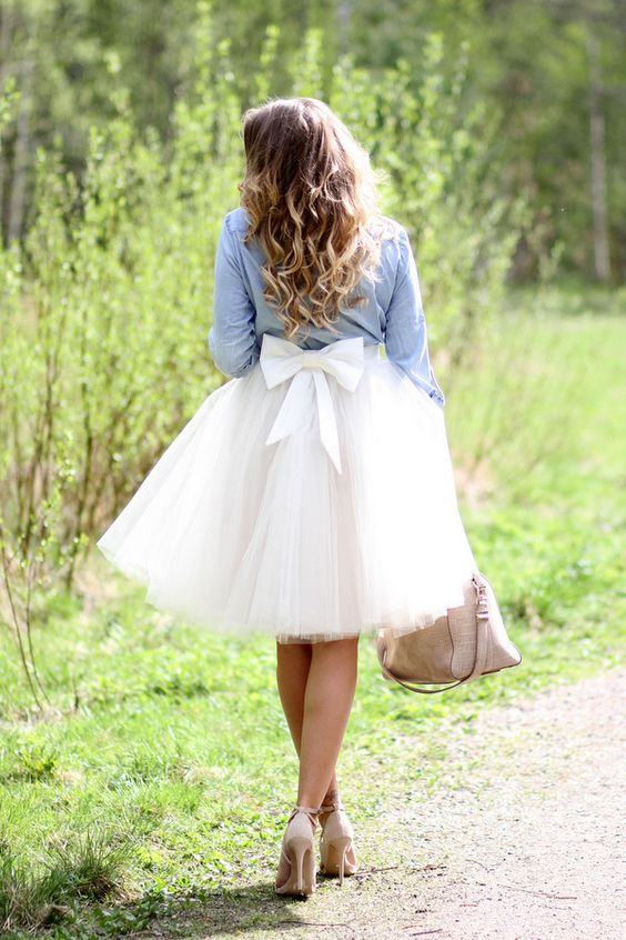 Lovely Short Knee Length Adult Tutu Skirt Midi Ruched Tulle With Bowknot Womens Skirts Falda Tul Mujer Cheap Faldas Cortas