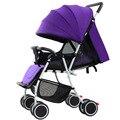 Luxuoso Do Bebê Carrinho de Criança Dobrável Carrinho de Bebê de Alta Paisagem Se Sentar e Deitar para Recém-nascidos Infantil Quatro Rodas 5 Cores