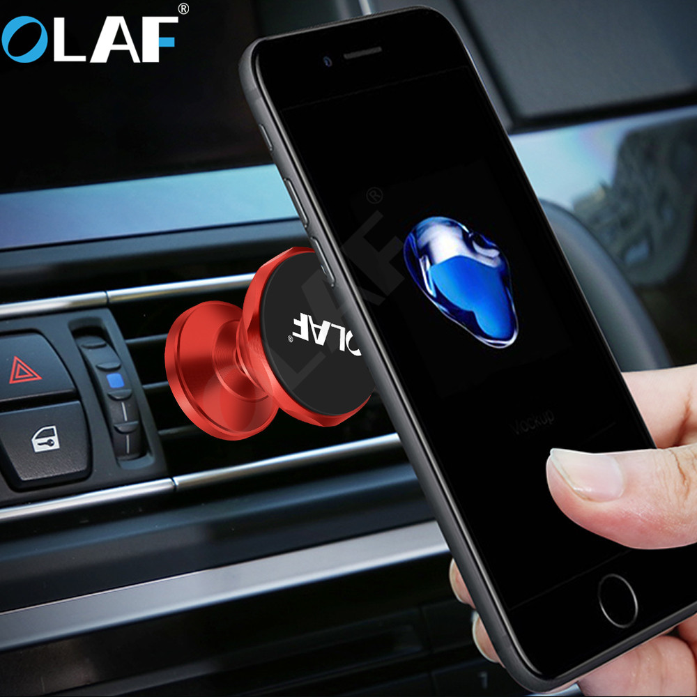 Olaf Car Phone Holder Magnetic Air Vent Mount Mobile Smartphone Stand Magnet Holder Support Cell Cellphone Telephone in Car GPS smartphone