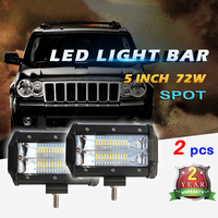 COLIGHT 1 Par Led Light Bar 72 w 5 ''5 Pulgadas Recta Del Punto haz 6000 K Spotlight para 4X4 Automóviles Uaz Buick Toyota Bike Motor Lada