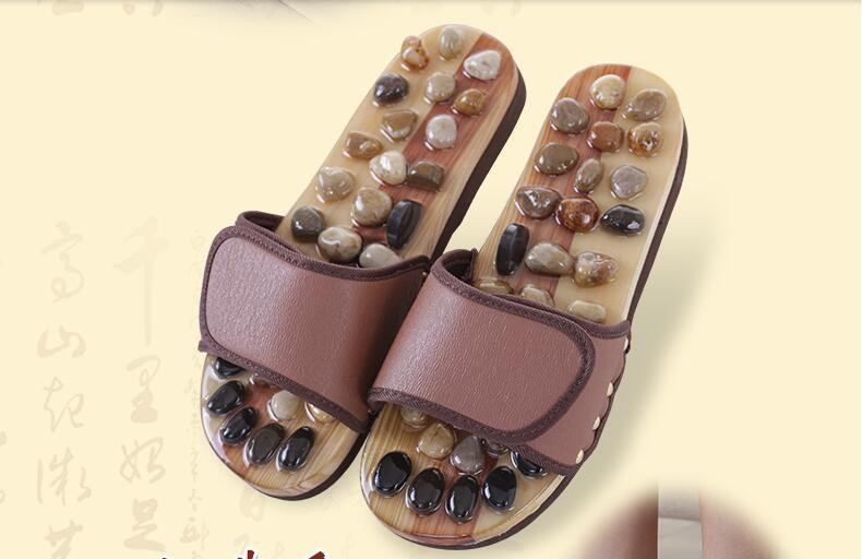 Pebble massage points care foot massage shoes / summer cultivation of men and women home slippers cool stone /2911271  natural pebble foot massage slippers point massage shoes men and women couple home skid shoes tb20903