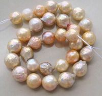 gorgeous 12 13mm natural south seas kasumi pink purple pearl necklace18inch